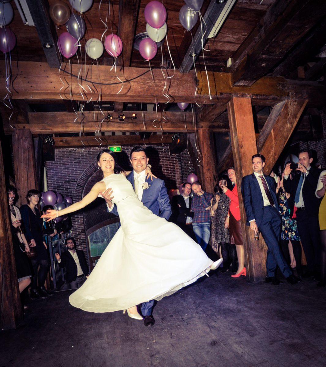 Openingsdans bruiloft Michael en Mariko