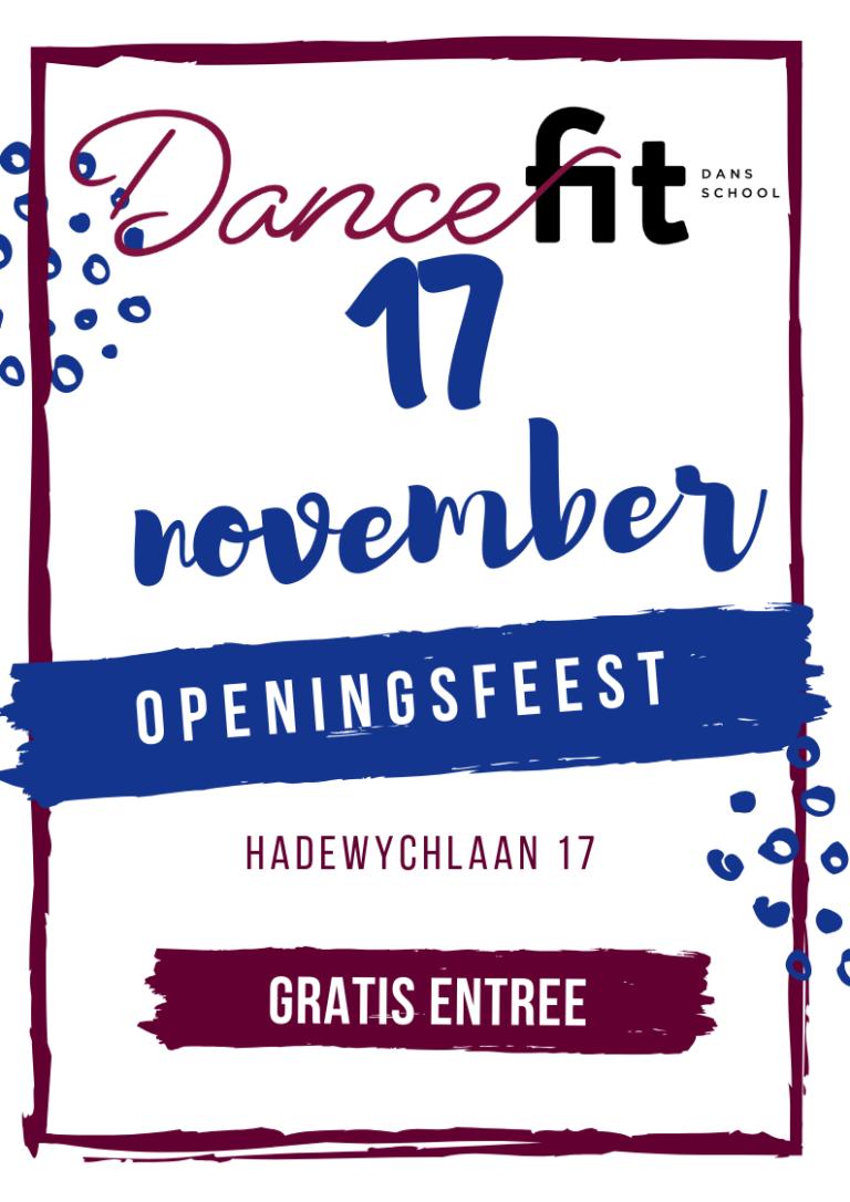 FLyer openingsfeest dansschool dance fit leiden